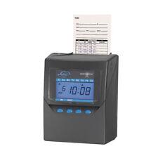 Time Recorder Withwwvb Atomic Clock 6x5x8 Black Trad Punch Clocks