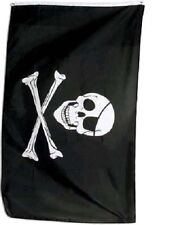 4x6 4'x6' Foot Jolly Roger Patch skull and bones Pirate Flag Banner (150 Denier)