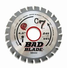 """C7 Bad Blade 4-1/2-Inch 24 Tooth w/ 1"""" Arbor And 7/8-Inch 5/8-Inch by KwikTool"""