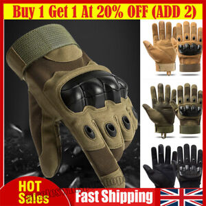 Tactical Knuckle Gloves Full Finger For Army Military Airsoft Paintball Shooting