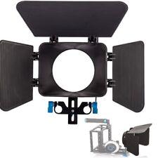 Plastic Matte Box Sunshade fr 15mm Rail Rod Support Rig Follow Focus DSLR Camera