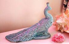 Duck Egg Blue Bird Teal Ceramic Peacock Ornament Figurine Birds Ceramic