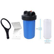 "10"" Zoll Big Blue Gehäuse + Wasser Filter Set Enthärter Anti Kalk Entkalker Haus"