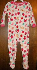 Girls Blanket Sleeper sz 24 mos CARTER'S White w/Cookies,Candy,Cupcakes,etc NWT