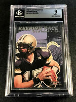 DREW BREES 2001 FLEER TRADITION #2 KEEPING THE PACE ROOKIE RC MINT BGS 9 SAINTS