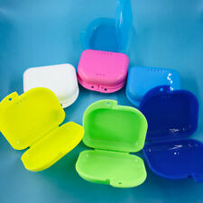 Dental Orthodontic Retainer Denture Storage Case Box Mouthguard Container Tray