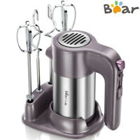 BEAR Electric Handheld Mixer 5 Speed Whisk Food Blender Kitchen Egg Beater US