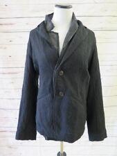 Pas de Calais Blazer Black Double Layer Wool-Blend Size 38 Two Button Jacket NEW