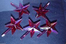 2  PINK Stars Large Chubby Iridescent Aurora  Christmas Tree twist light VINTAGE