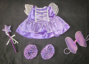 STUFFLERS or BUILD A BEAR Purple Fairy Dress Complete Outfit