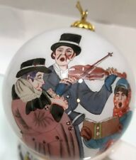 Christmas Carol Norman Rockwell Ornament Collection glass vintage