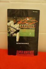 Ken Griffey Jr. Major League Baseball (Super Nintendo SNES) Instruction Manual