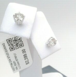 $2400 1/2CTTW CT REAL CERTIFIED Diamond Stud Earrings 14k SOLID WHITE Gold