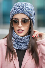 Hat and Snood Tube Scarf Set