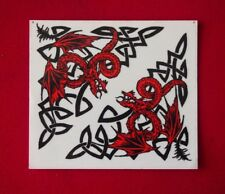 Sticker - (Tribal Dragons) - Measures 13cm x12cm