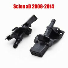 2Pcs Front Windshield Wiper Washer Hood Jet Sprayer Nozzle For Scion xD 08-14