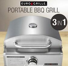 NEW 3in1 Pizza Oven- Portable BBQ Gas Stainless Steel Grille Camping CERAMIC