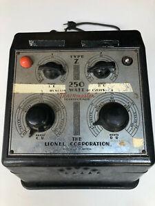Lionel Post-War: Type Z 250watt Transformer & 1 #167 Whistle Controller
