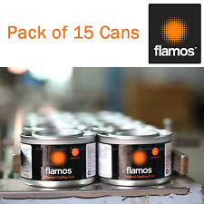 15 x Cans of Flamos Ethanol Gel Chafing Dish Fuel 3 Hour Can Bulk Catering Pack