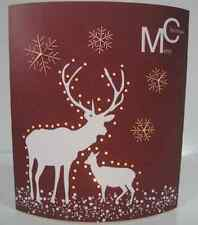 Merry Christmas Reindeer Night Light LED Picture 16.5 x 13cm - Changes Colour