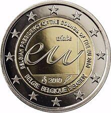 Belgien 2 Euro EU- Ratspräsidentschaft 2010 Gedenkmünze PP im Etui