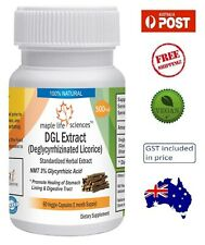 Deglycyrrhizinated Licorice (DGL) Extract Capsules - Stomach Health - AU Stock