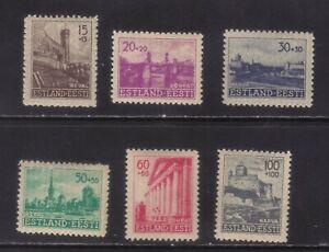 stamps   Germany  occupation Estonia set
