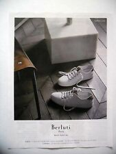 PUBLICITE-ADVERTISING :  BERLUTI Bottier depuis 1895  2016 Chaussures