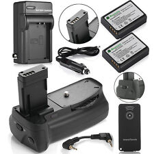 Battery Grip for Canon EOS Rebel T5 T3 1100D 1200D + 2 x LP-E10 Battery +Charger