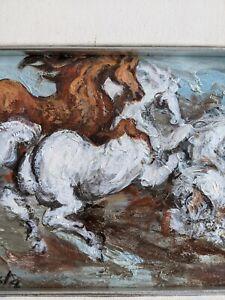 Gianni Testa Cavalli Olio su Tela 20 x 45 cm 1975