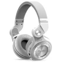 Casque Bluetooth Bluedio T2+ sans fil avec microphone micro-SD et FM radio Blanc