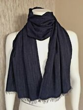 POLO RALPH LAUREN NAVY BLUE LIGHTWEIGHT WOOL BLEND SCARF MADE IN ITALY BNWT