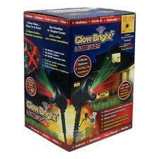 Glow Bright Christmas Laser Light Show Deluxe w Remote, Tripod, and Stake
