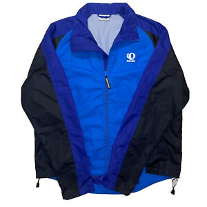 Rare Vintage Pearl Izumi Logo Cycling Track Jacket Windbreaker Sz XL Purple Blue