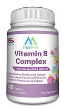 Med-Vit Vitamin B Complex 365 tablets (1 year supply) Contains all 8 B vitamins