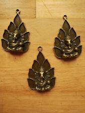 2x Ganesha Schmuck Anhänger Charm Tibet Antik Bronze