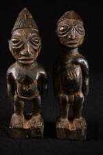 10468a Afrikanische Alte Ibeji Zwinligen Figur Nigeria