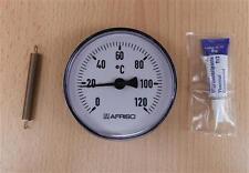 Anlegethermometer 1 Stück Ø 80mm Set / 0- 120°C + Wärmeleitpaste (7837#