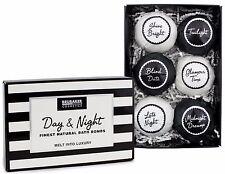 BRUBAKER Bath Bombs Gift Set 'Day & Night' Bomb Fizzers Handmade Vegan 6 Pcs
