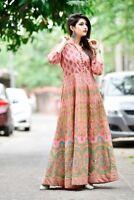 Indian Kurti Kurta Women Pakistani Long Tunic Designer Ethnic Floral Gown Top
