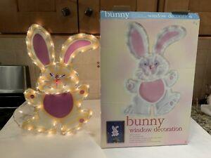 Vintage 53 Superbright Bulbs Easter Bunny Window Decoration Indoor/ Outdoor