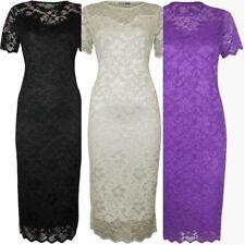 Plus Size Crew Neck Floral Formal Dresses for Women