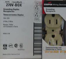 20 Cooper 15A Grounding Duplex Receptacles  270V-BOX IVORY