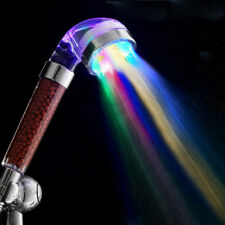 LED Bathroom Seoul Stone Shower Head Stainless Hand Held Ultimate USA