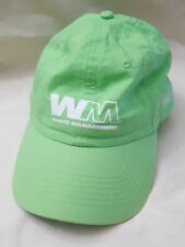 Waste management WM bagster Bright Green Baseball Hat 100% Organic Cotton