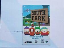 N64 South Park Instruction Manual