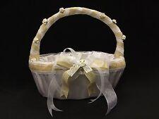 Decorated Basket, Burlap, Wedding, Flower Girl, Quinces, Bridal Shower
