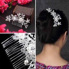 Floral Wedding Tiara Bridal Hair Combs Hairpin Jewelry Hair Accessories AZ
