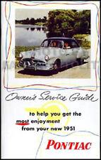 1951 Pontiac Owners Manual Silver Strak Streamliner Torpedo Catalina Chieftain