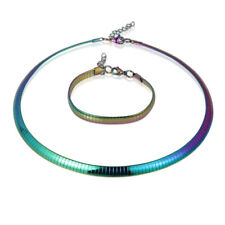 8/6/4 MM Colorful Stainless Steel Jewelry Sets Women Wedding Necklaces Bracelets